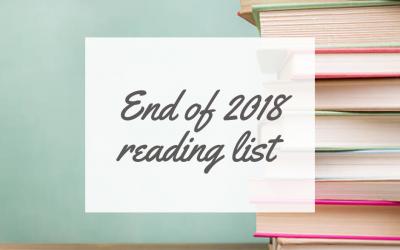 Reading up – End of 2018 reading list